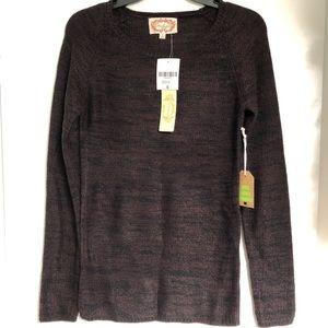 NWT Ambiance Chocolate/Taupe Sweater